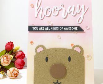 How to  Make a Sweet Bear Hooray Card