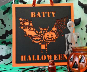 Batty Halloween Sign - Step By Step