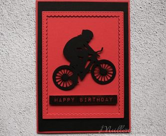 Cycling On Happy Birthday Card