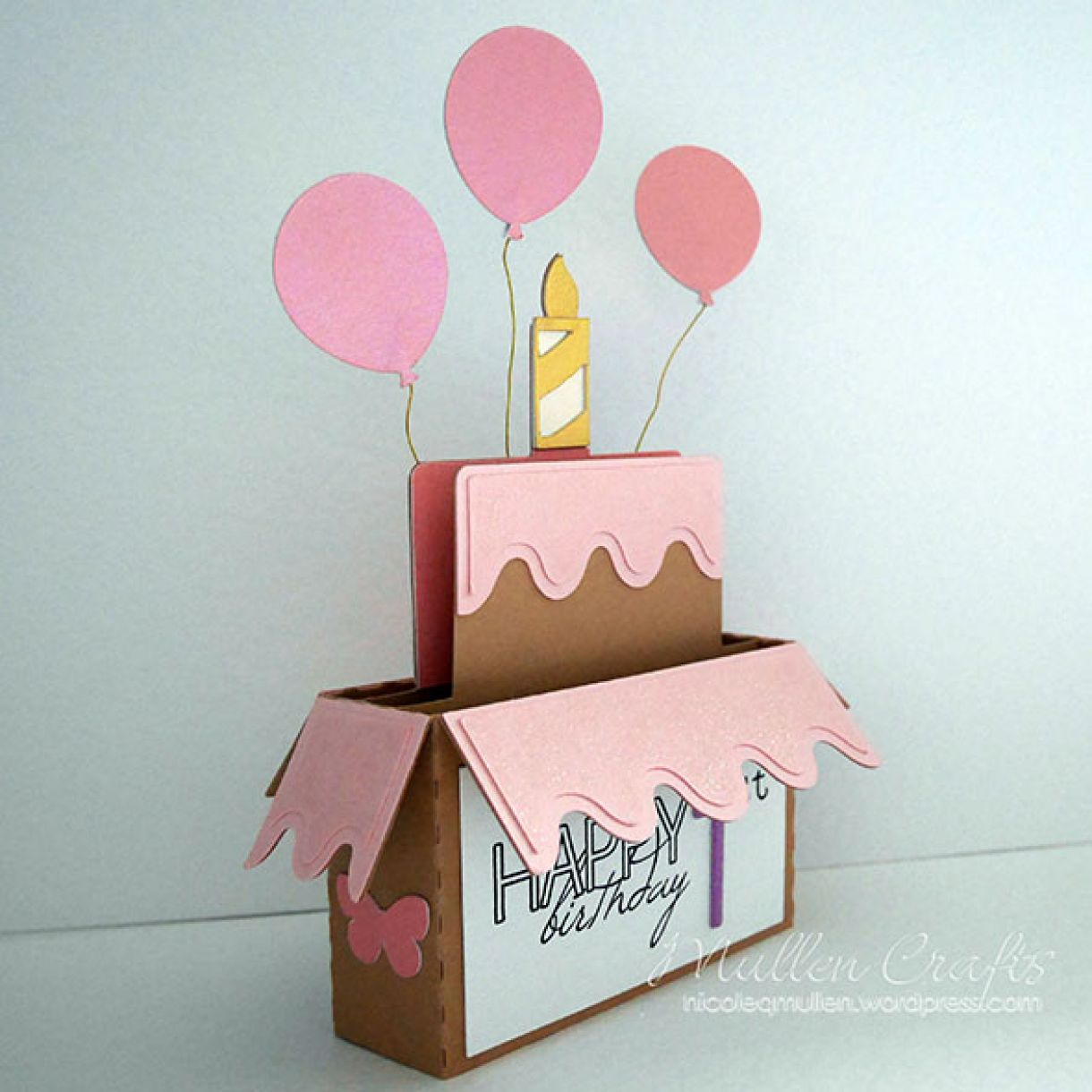 Handmade Birthday Card Idea Using Silhouette Birthday Box Cutting File