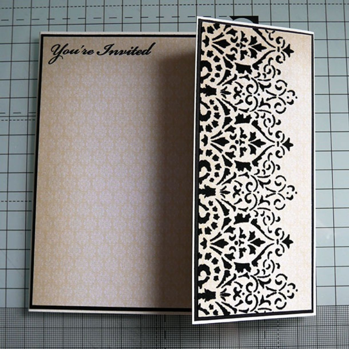 Black And Cream Deco Card Nicole 3