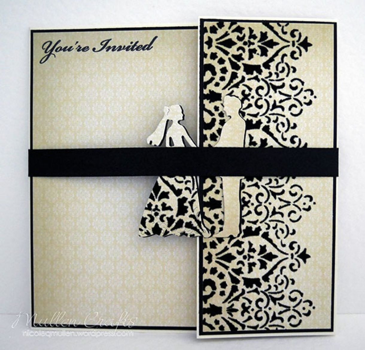 Black And Cream Deco Card Nicole 6