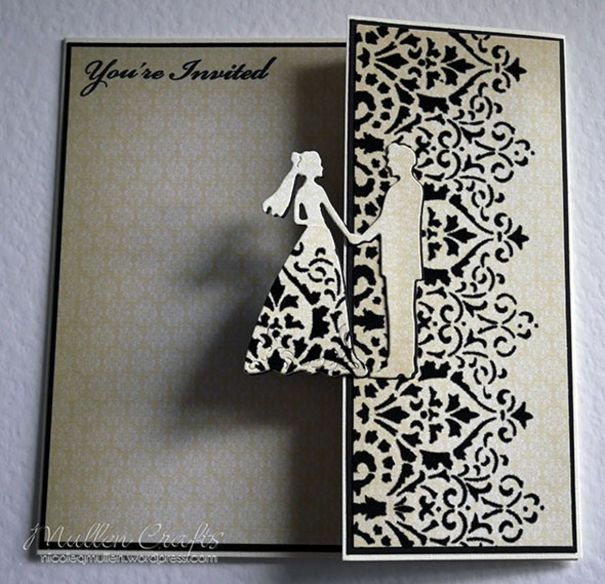 Black And Cream Deco Card Nicole 7