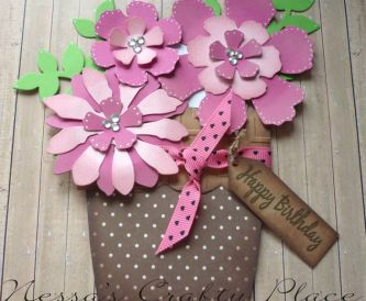 Flower Pot Pocket Card Tutorial