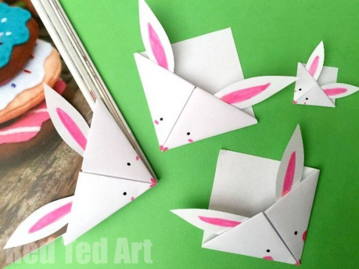 Bunny Corner Bookmark Tutorial