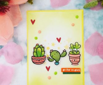 A Cute Cactus Card