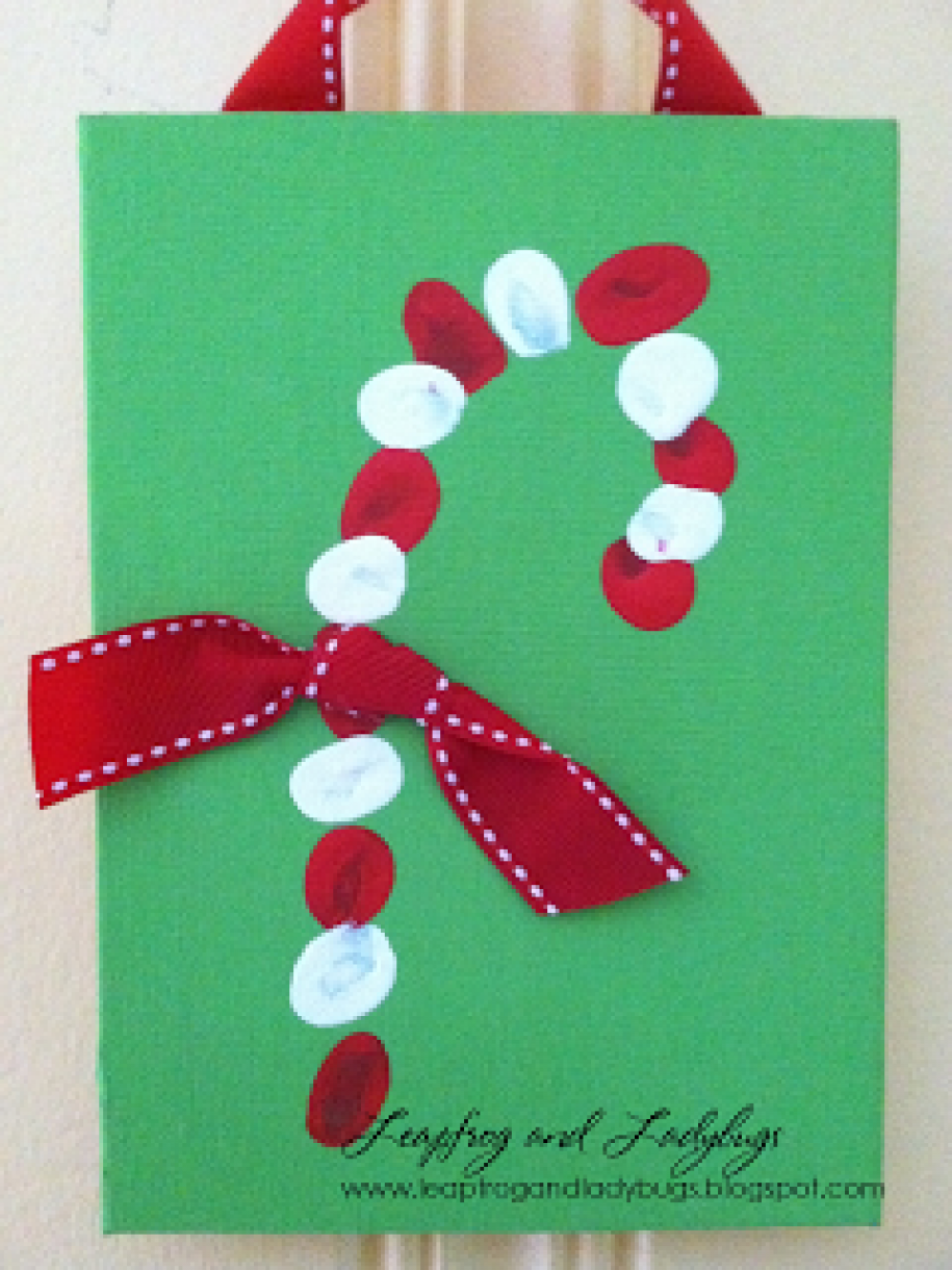 Candy Cane Christmas Card Idea