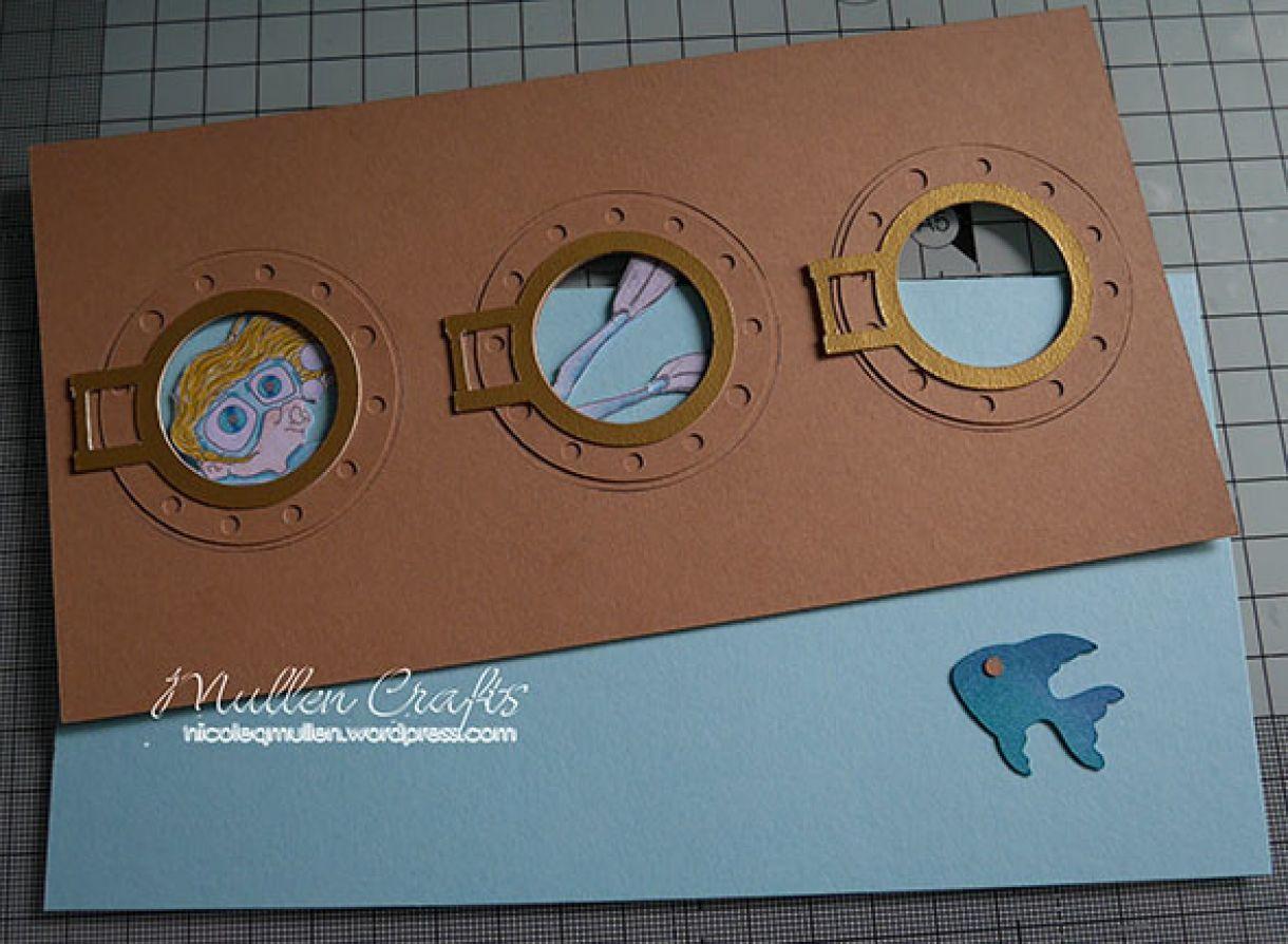 cardmaking idea underwater scene