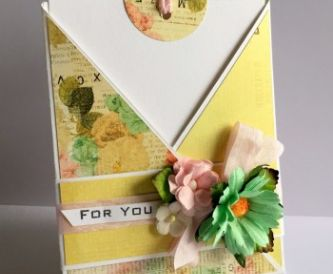 Criss Cross Card with Pull out Tag