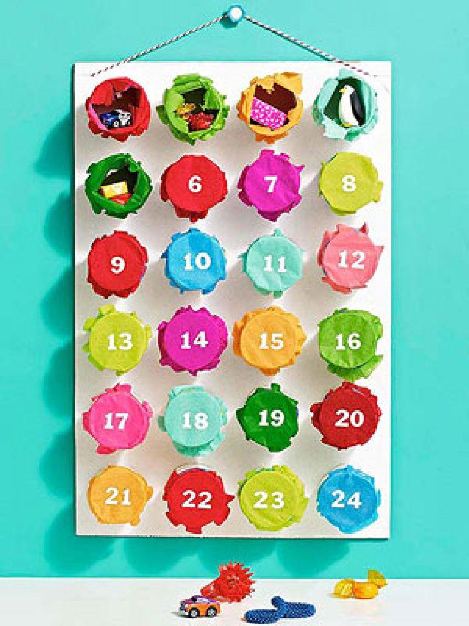 Colourful Loo Roll Advent Calendar