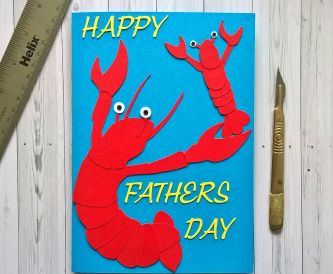 How to make a lobster fathers day card!