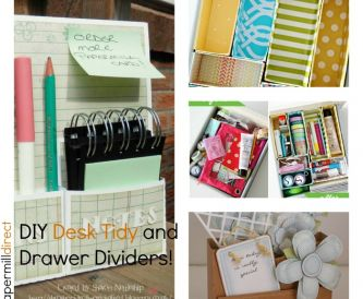 DIY Desk Tidy and Draw Dividers