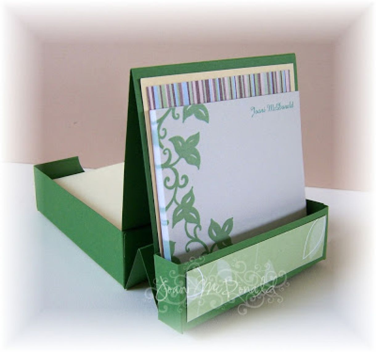 Desk Tidy Tutorial Card