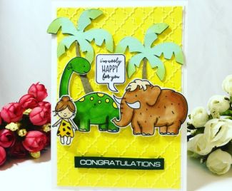Fun Dinosaur Card
