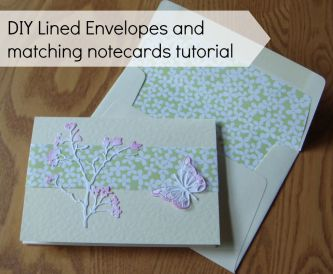 How to line an envelope and make matching note cards