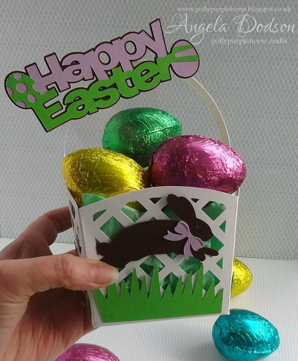 Easter Basket And Eggs 1