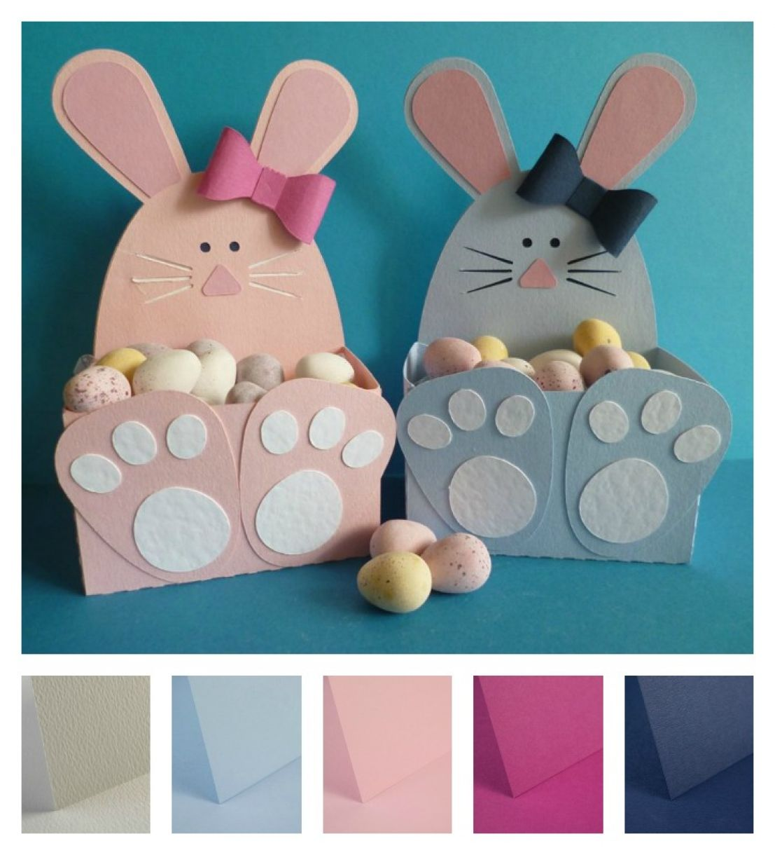 Project easter bunny gift boxes negle Images