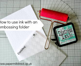 How to use ink with an embossing folder