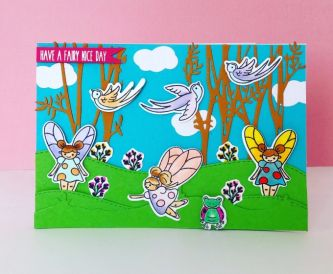 Bright and Colourful Fairy Card