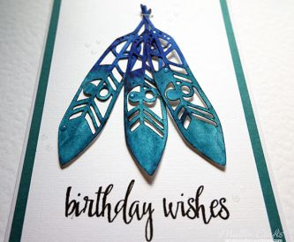 Watercolour Feathers Card
