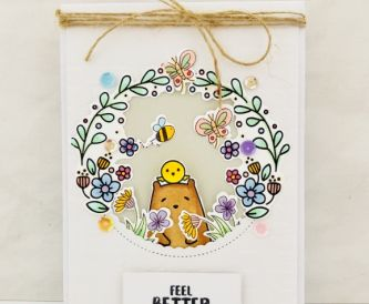Circle Window Get Well Soon Card