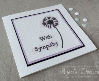 A Simple Technique for Stamped Sympathy Cards