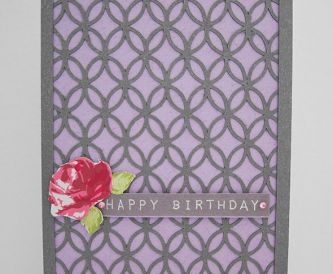 Fun Birthday Card - Flecked Lilac