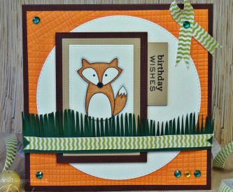 Autumn Fox Birthday Card – Step By Step