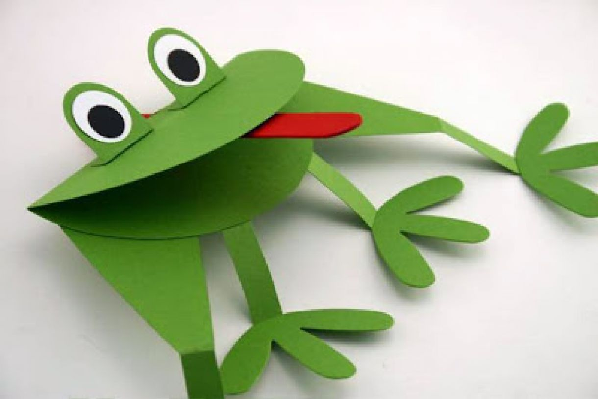 Frog Springy Puppet