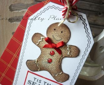 Sweet Christmas Gingerbreadman Gift Tag
