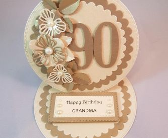 90th Birthday Easel Card