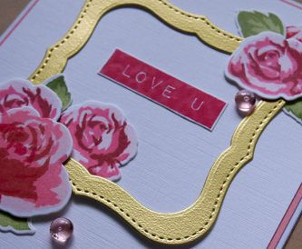 Love U - Handmade Valentine's day card idea