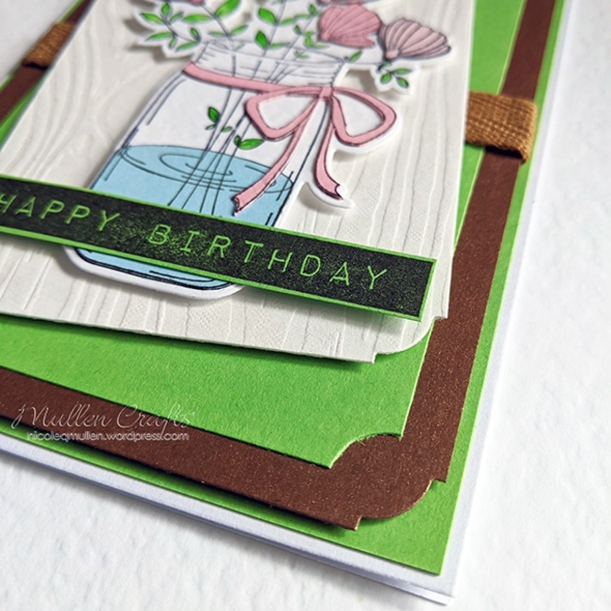 Green Layered Bday Floral Card 7