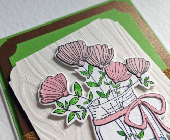 Green Layered Birthday Card