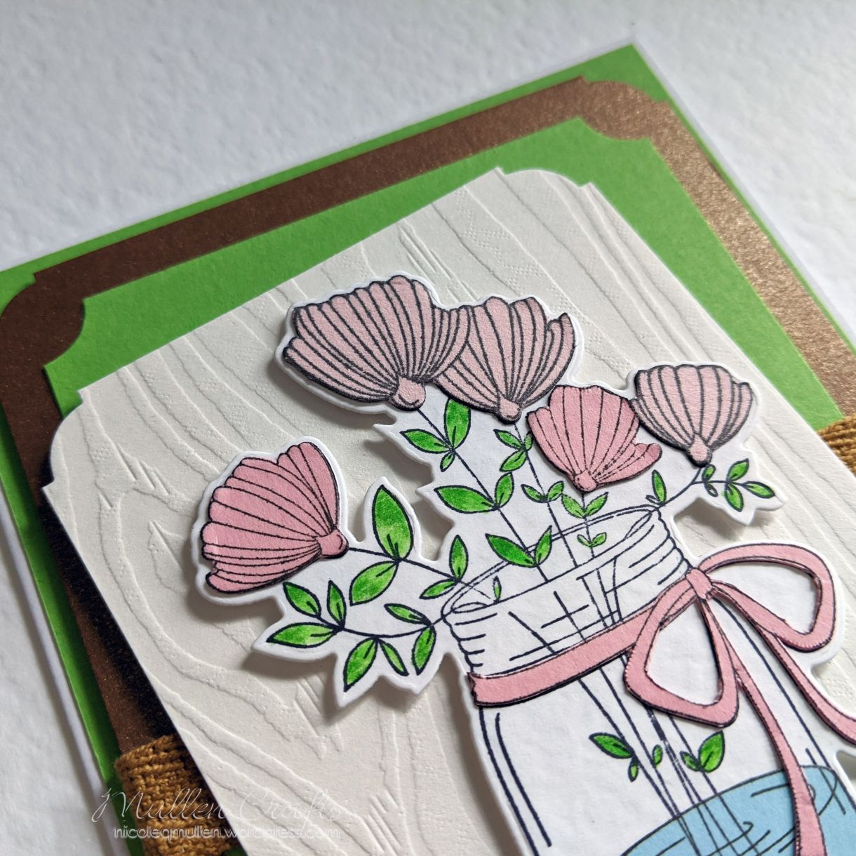 Green Layered Bday Floral Card 8