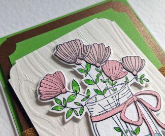 Green Layered Birthday Card