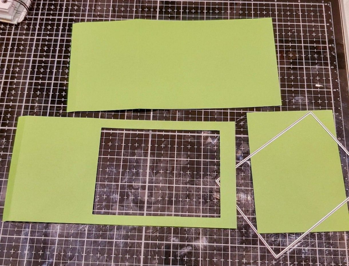 Green Yellow Main Box Pieces Cut Out Aperture