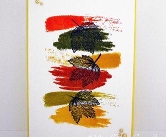 Handmade Card Making Idea - Autumn Inspiration