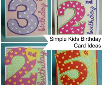 Project - Simple Kids Age Cards