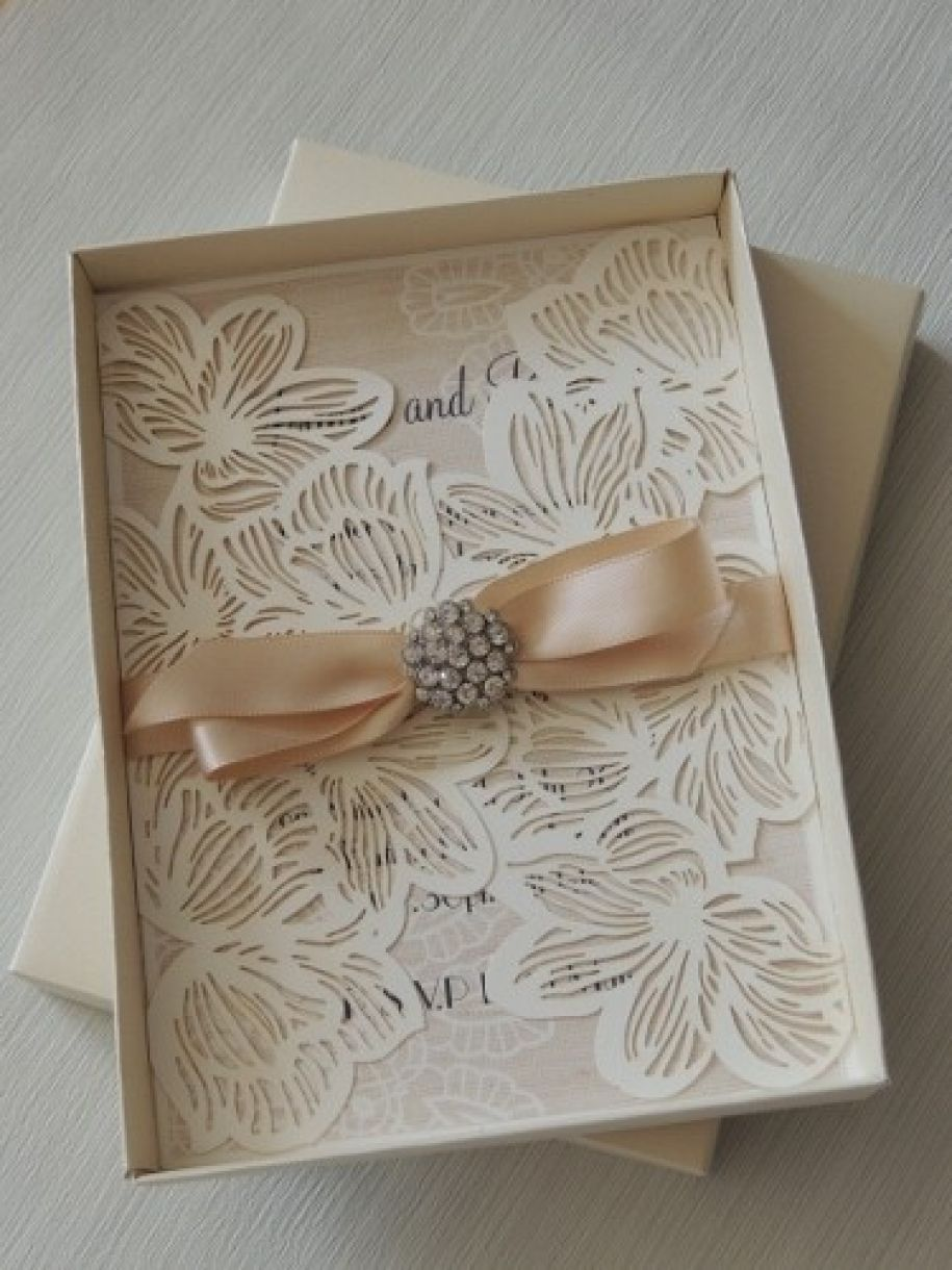 Handmade Wedding Stationery With Embellishment