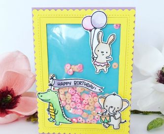 A Fun Animal Birthday Shaker Card