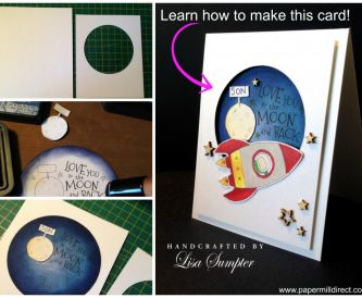 Papercraft Tutorial - How to Make a Clean and Simple (CAS) Card for a Child