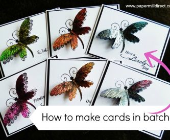 How To Save Time Making Cards