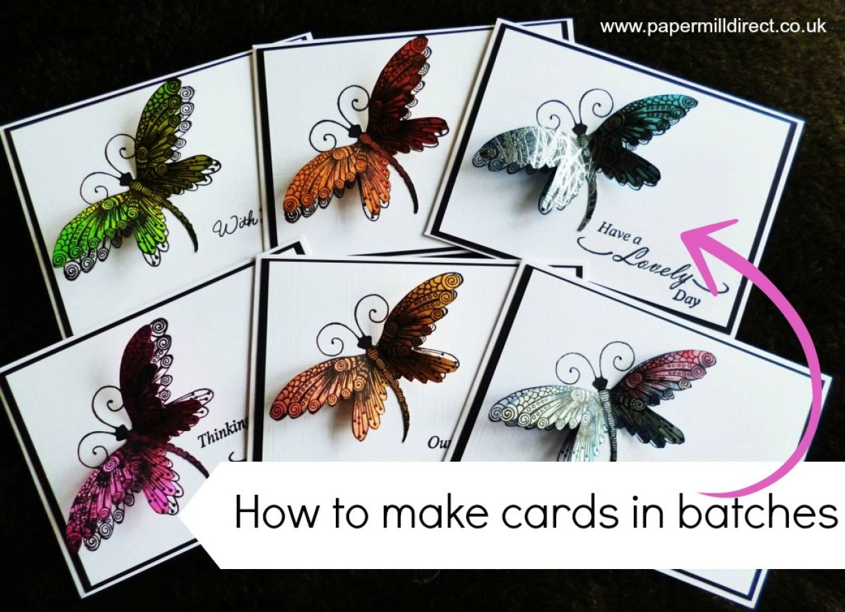 How To Make Cards In Batches