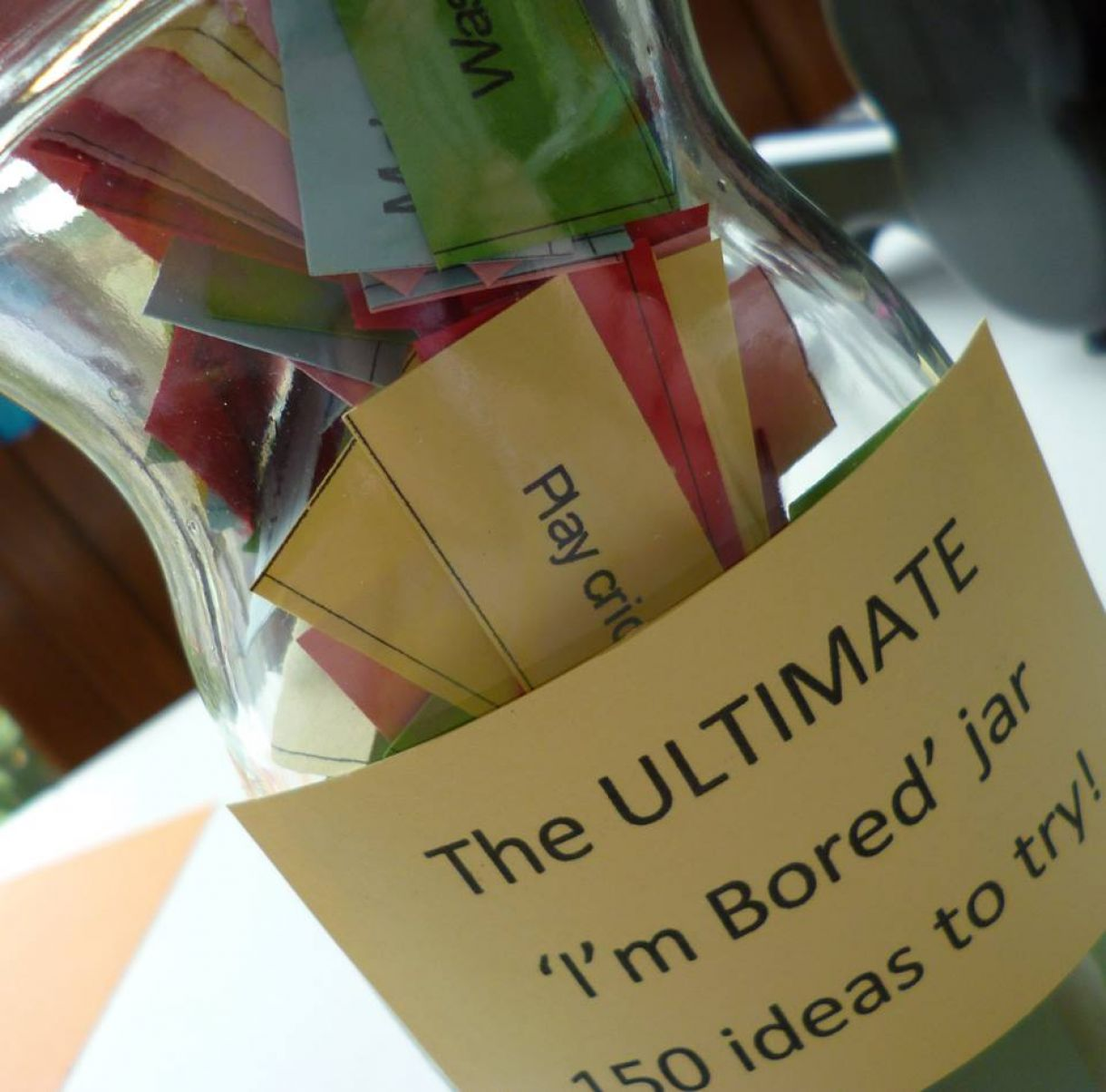 Kids Craft Ideas The I M Bored Jar