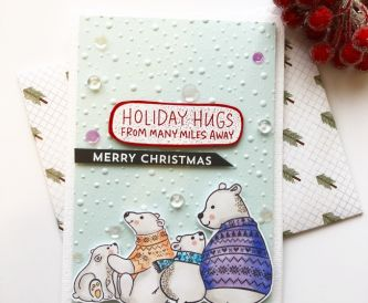 Holiday Hugs Christmas Card