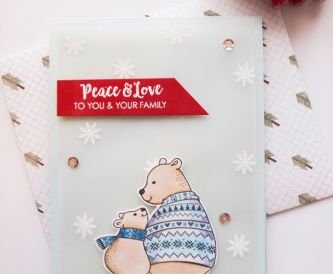 Soft and Pretty Polar Bear Christmas Card