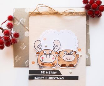 A Cute Critter Christmas Card