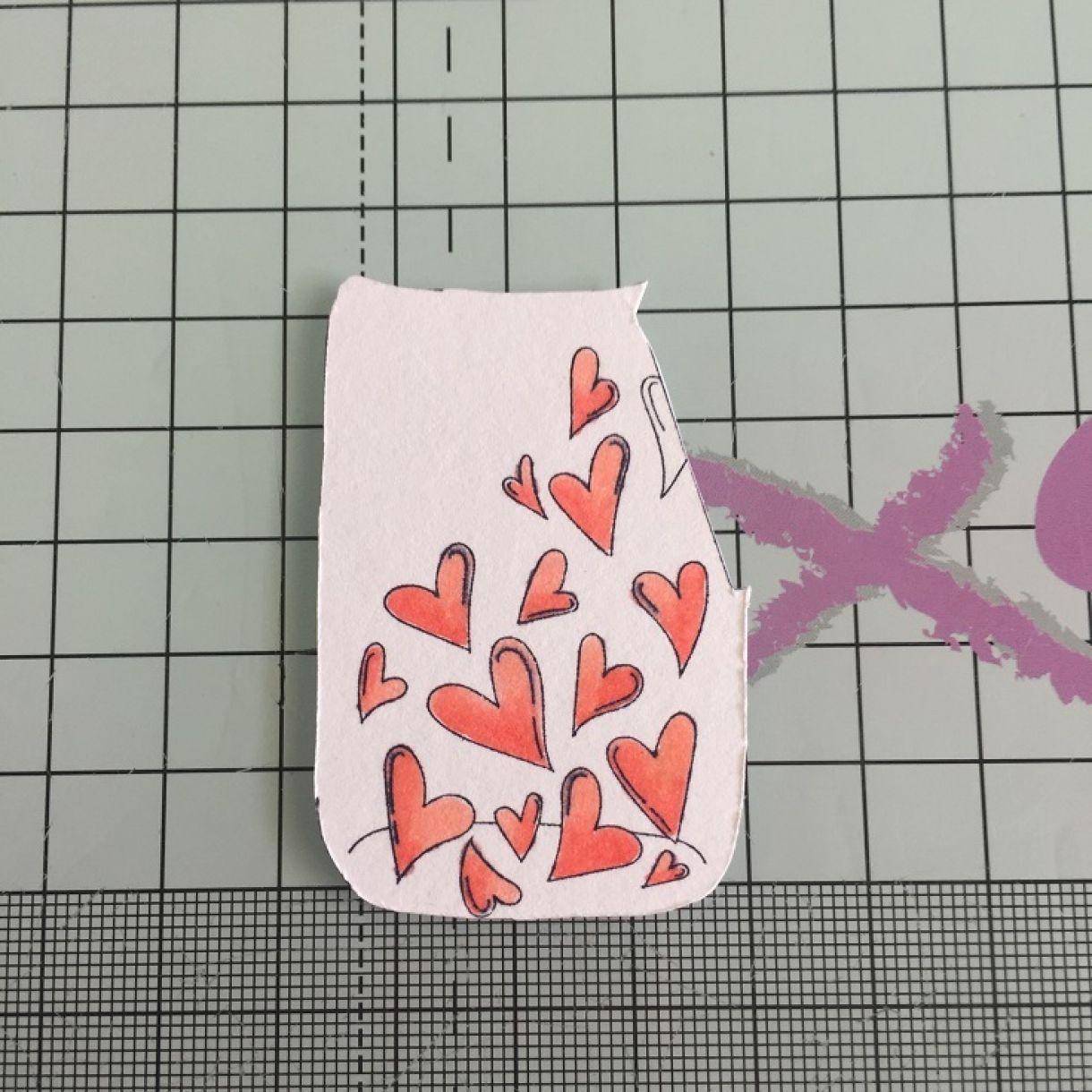 jar of hearts shaker cardmaking idea