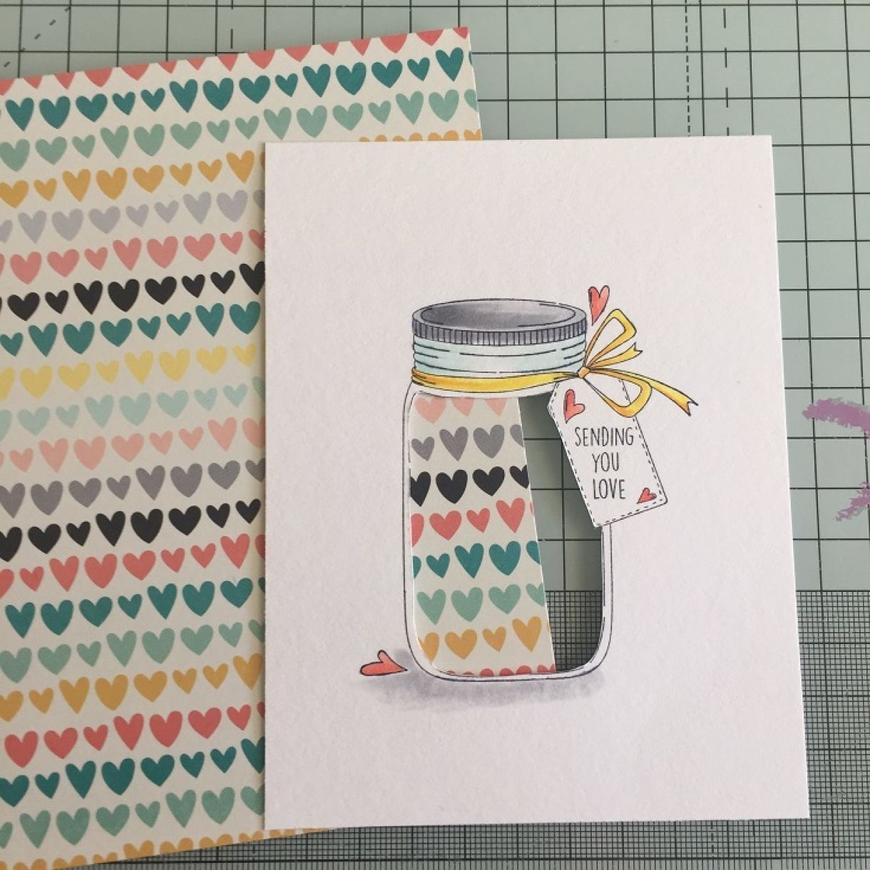 jar of hearts shaker card tutorial